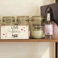 Wall Plaque - Live, Love, PURR